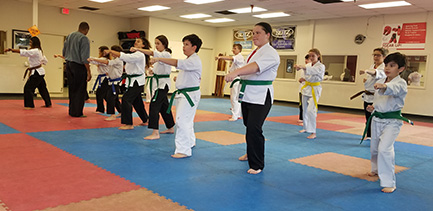 Youth Karate Class at the MAS Dojo